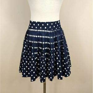 Tommy Hilfiger Pleated Polka-Dot Skirt Navy